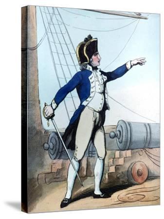 Lieutenant, 1799-Thomas Rowlandson-Stretched Canvas Print