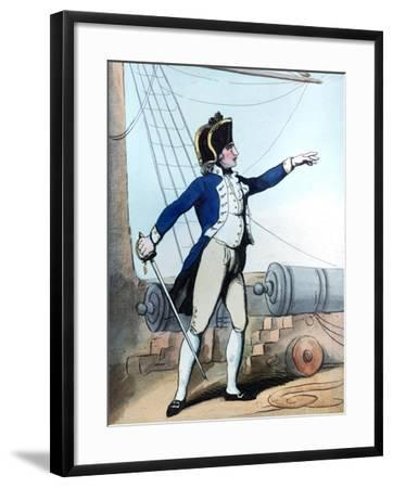 Lieutenant, 1799-Thomas Rowlandson-Framed Giclee Print