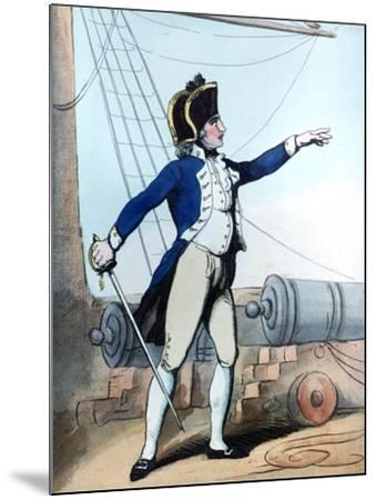 Lieutenant, 1799-Thomas Rowlandson-Mounted Giclee Print