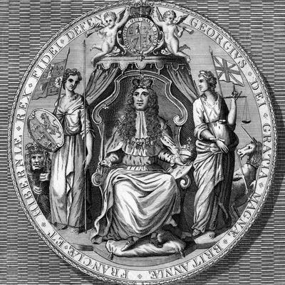 The Great Seal of King George I- Vandroit-Framed Giclee Print