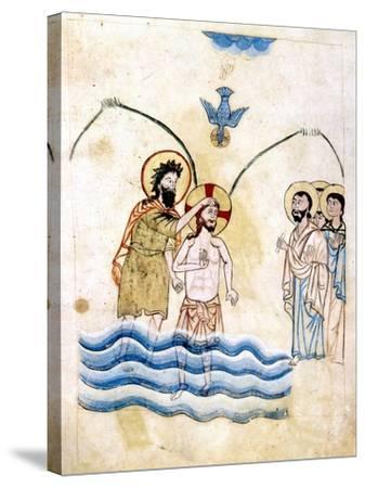 The Baptism of Jesus by St John the Baptist, C1334-Vardan Lorets'i-Stretched Canvas Print