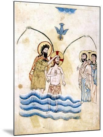 The Baptism of Jesus by St John the Baptist, C1334-Vardan Lorets'i-Mounted Giclee Print