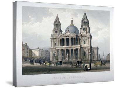 St Paul's Cathedral, City of London, 1851-Thomas Picken-Stretched Canvas Print
