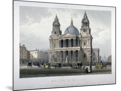 St Paul's Cathedral, City of London, 1851-Thomas Picken-Mounted Giclee Print