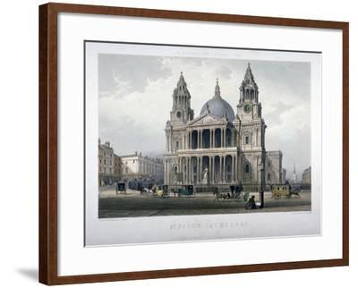 St Paul's Cathedral, City of London, 1851-Thomas Picken-Framed Giclee Print