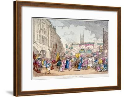Bartholomew Fair, West Smithfield, City of London, 1813-Thomas Rowlandson-Framed Giclee Print