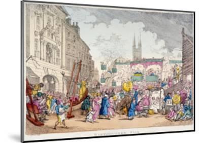 Bartholomew Fair, West Smithfield, City of London, 1813-Thomas Rowlandson-Mounted Giclee Print