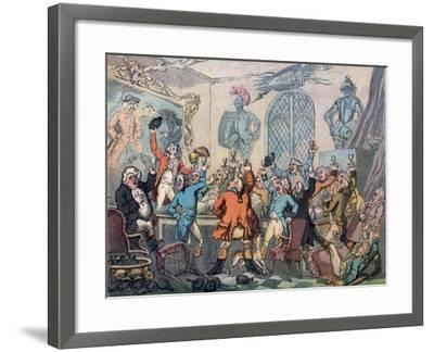 The Dinner, Humours of Fox Hunting, 1799-Thomas Rowlandson-Framed Giclee Print