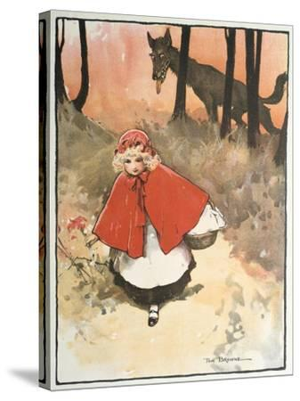 Scene from Little Red Riding Hood, 1900-Tom Browne-Stretched Canvas Print