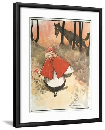 Scene from Little Red Riding Hood, 1900-Tom Browne-Framed Giclee Print