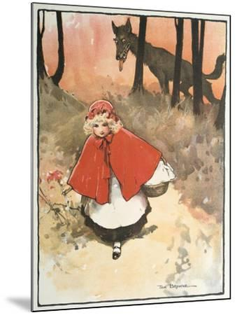 Scene from Little Red Riding Hood, 1900-Tom Browne-Mounted Giclee Print
