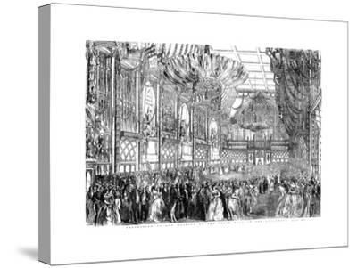Procession of Her Majesty to the State Ball in the Guildhall, City of London, July 1851-William Griggs-Stretched Canvas Print
