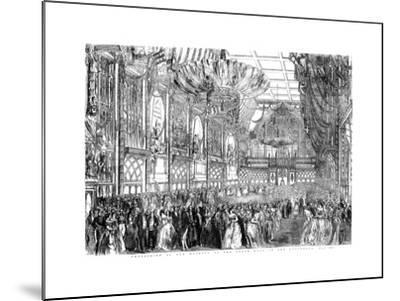 Procession of Her Majesty to the State Ball in the Guildhall, City of London, July 1851-William Griggs-Mounted Giclee Print