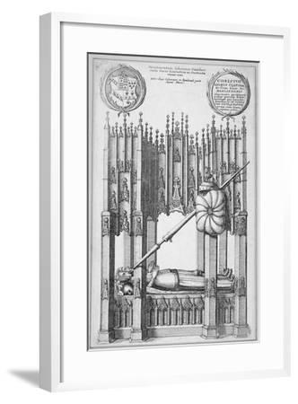Monument of John of Gaunt and Constance of Castile, Old St Paul's Cathedral, City of London, 1656-Wenceslaus Hollar-Framed Giclee Print