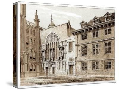 West Front of Guildhall Chapel, City of London, 1886-William Griggs-Stretched Canvas Print