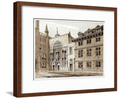 West Front of Guildhall Chapel, City of London, 1886-William Griggs-Framed Giclee Print