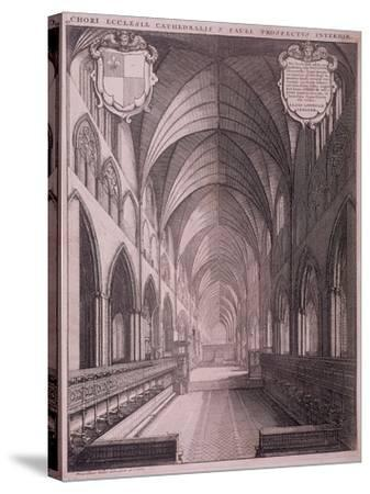 St Paul's Cathedral, London, C1658-Wenceslaus Hollar-Stretched Canvas Print