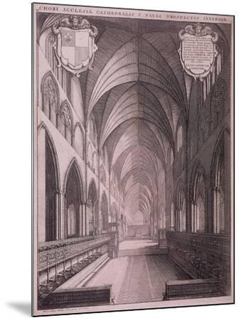 St Paul's Cathedral, London, C1658-Wenceslaus Hollar-Mounted Giclee Print