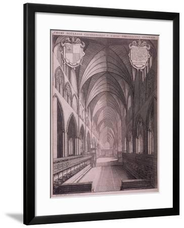 St Paul's Cathedral, London, C1658-Wenceslaus Hollar-Framed Giclee Print