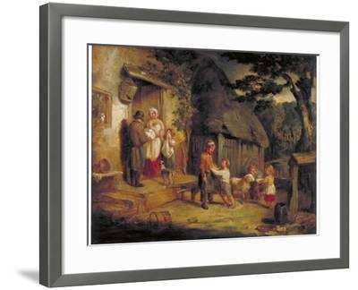 The Pet Lamb, C1813-William Collins-Framed Giclee Print