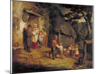 The Pet Lamb, C1813-William Collins-Mounted Giclee Print