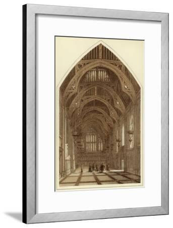Guildhall Interior, City of London, 1886-William Griggs-Framed Giclee Print