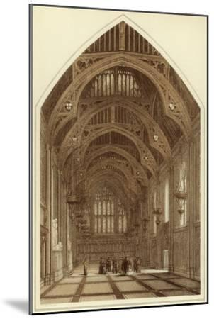 Guildhall Interior, City of London, 1886-William Griggs-Mounted Giclee Print