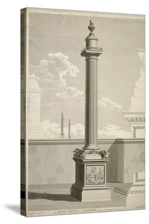 View of the Monument, City of London, 1791-William Lowry-Stretched Canvas Print