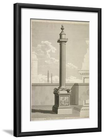 View of the Monument, City of London, 1791-William Lowry-Framed Giclee Print