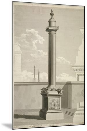 View of the Monument, City of London, 1791-William Lowry-Mounted Giclee Print