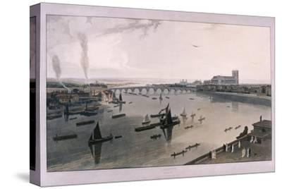 View of London from Somerset House, 1805-William Daniell-Stretched Canvas Print