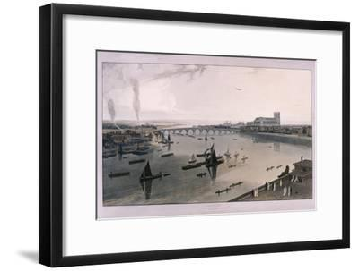 View of London from Somerset House, 1805-William Daniell-Framed Giclee Print
