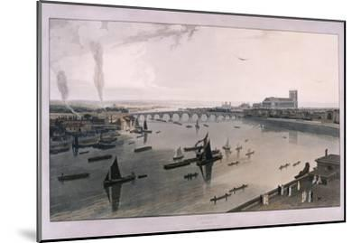 View of London from Somerset House, 1805-William Daniell-Mounted Giclee Print