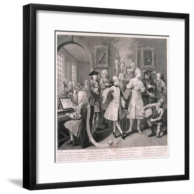 A Rake's Progress, 1735-William Hogarth-Framed Giclee Print