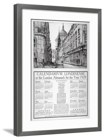 Watling Street, City of London, 1928-William Monk-Framed Giclee Print