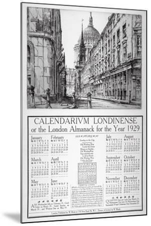 Watling Street, City of London, 1928-William Monk-Mounted Giclee Print