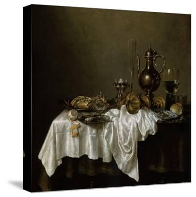 Breakfast with a Lobster, Dutch Painting of 17th Century-Willem Claesz Heda-Stretched Canvas Print