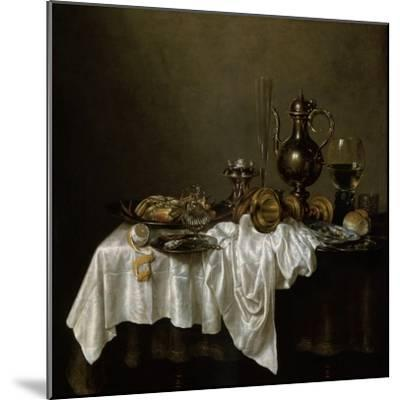 Breakfast with a Lobster, Dutch Painting of 17th Century-Willem Claesz Heda-Mounted Giclee Print