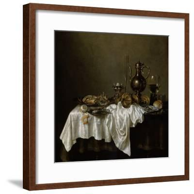 Breakfast with a Lobster, Dutch Painting of 17th Century-Willem Claesz Heda-Framed Giclee Print