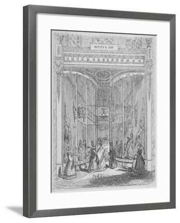 The Premises of Harvey and Son at No 9 Ludgate Hill, Ludgate Hill, City of London, 1845-William Alfred Delamotte-Framed Giclee Print