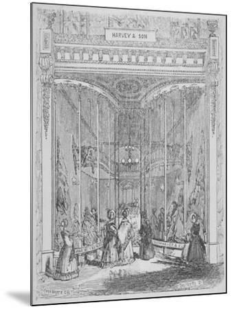 The Premises of Harvey and Son at No 9 Ludgate Hill, Ludgate Hill, City of London, 1845-William Alfred Delamotte-Mounted Giclee Print