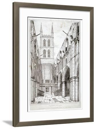 View of the Nave, St Saviour's Church, Southwark, London, C1834-W Taylor-Framed Giclee Print