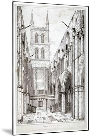 View of the Nave, St Saviour's Church, Southwark, London, C1834-W Taylor-Mounted Giclee Print
