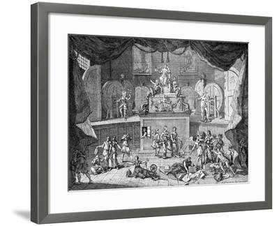 The Lottery, 1721-William Hogarth-Framed Giclee Print