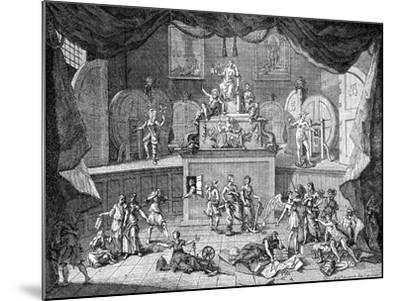 The Lottery, 1721-William Hogarth-Mounted Giclee Print