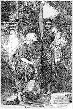 A Fellah Woman at the Spring, C1880-1882-W Unger-Framed Giclee Print