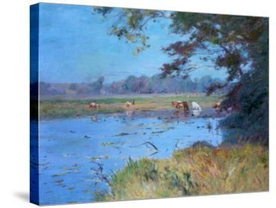 The Watering Pond, C1868-1917-Walter Clark-Stretched Canvas Print