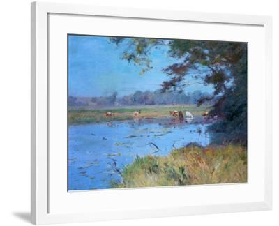 The Watering Pond, C1868-1917-Walter Clark-Framed Giclee Print