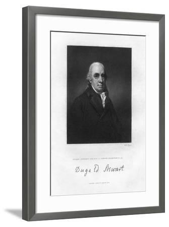 Dugald Stewart (1753-182), Scottish Philosopher, 19th Century-WH Ligars-Framed Giclee Print