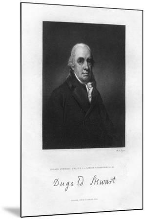 Dugald Stewart (1753-182), Scottish Philosopher, 19th Century-WH Ligars-Mounted Giclee Print